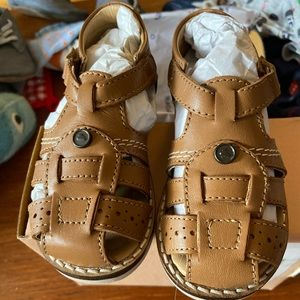 Mayoral Leather Velcro Sandals Sz 5